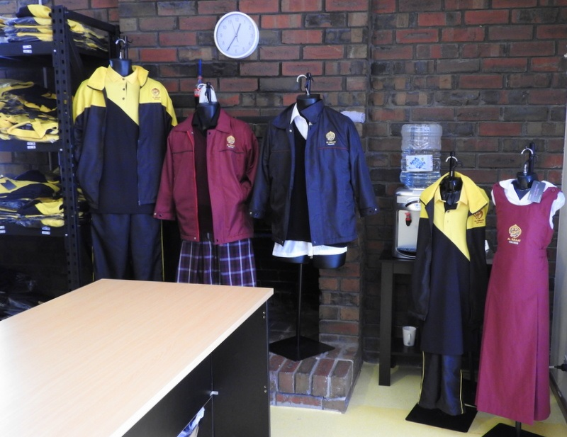 ba892f253d1 School Uniform Shop  On Site at the College. Uniform options on display ...