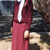 Senior Girls' School Uniform: Tunic Option with Jumper and White Scarf