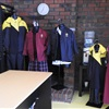 School Uniform Shop: On Site at the College. Uniform options on display