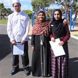 Our 2016 School Captains with former Captain Amnah Arain (centre)