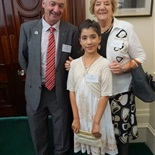 Mariam with fellow Australia Day Award reciepients Bruce Batten and Joy Chafield from the Council of Whittlesea.