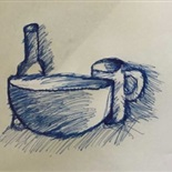 Still life drawing by Ezaan Khan, Year 7G1