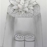Still life drawing by Nusayr Sultan, Year 7G1