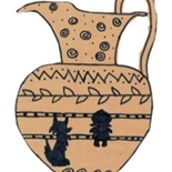Ancient Greek vase by Hannah Faroqui, Hifz A