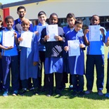 Year 6 male student graduates
