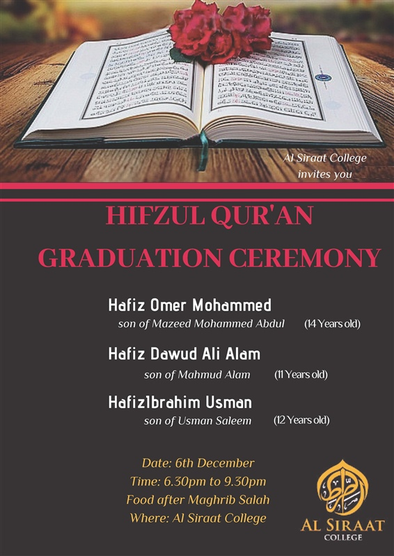 Hifzul Qur'an Graduation Ceremony