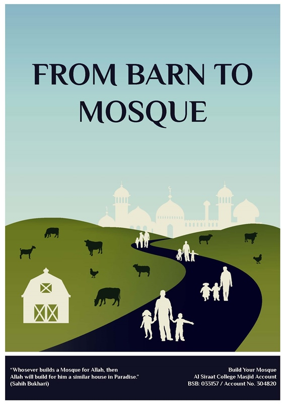 how to build a mosque for school project