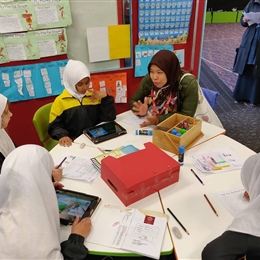 Indonesian Delegates Visit Junior School