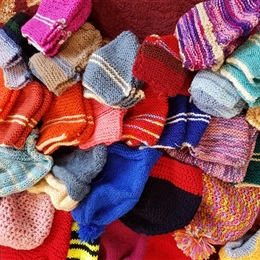 Knitting for the Syrian Winter Appeal