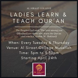Ladies Learn & Teach Qur'an Program