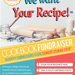 FINISHING THIS SUNDAY: Cook Book Fundraiser