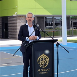 Special Assembly with Federal MP Andrew Giles