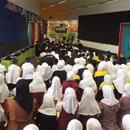 Our Year 3 and 4 Students at Prayer Time