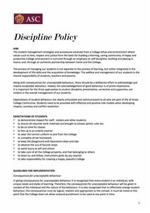 Discipline Policy