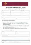 Student Withdrawal Form