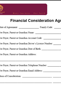Financial Consideration Application