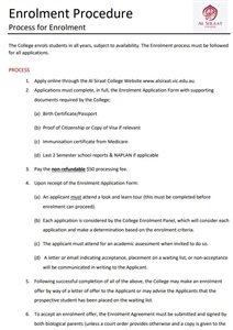 Enrolment Procedure